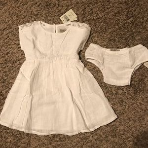 NWT Lucky Brand white dress with DC size2T